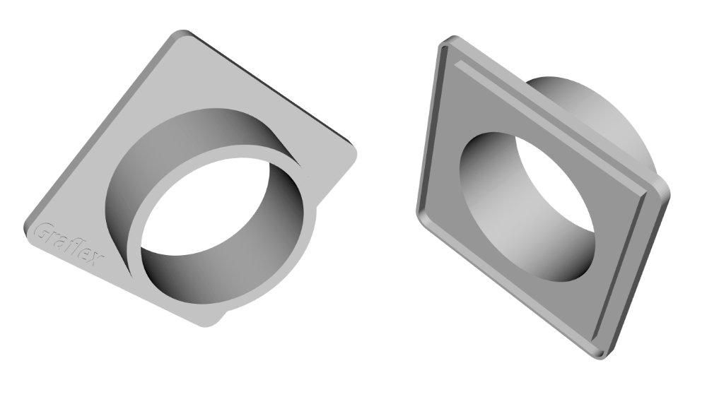 Das CAD-Design für das Lensboard.